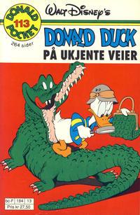 Cover Thumbnail for Donald Pocket (Hjemmet / Egmont, 1968 series) #113 - Donald Duck På ukjente veier [1. opplag]