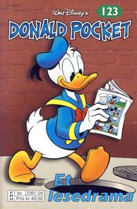 Cover Thumbnail for Donald Pocket (Hjemmet / Egmont, 1968 series) #123 - Et lesedrama [2. utgave bc 239 04]