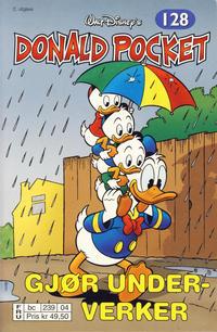 Cover Thumbnail for Donald Pocket (Hjemmet / Egmont, 1968 series) #128 - Donald gjør underverker [2. utgave bc 239 04]
