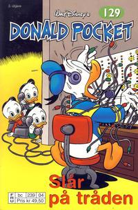 Cover Thumbnail for Donald Pocket (Hjemmet / Egmont, 1968 series) #129 - Donald slår på tråden [2. utgave bc 239 04]