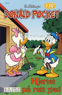 Cover Thumbnail for Donald Pocket (Hjemmet / Egmont, 1968 series) #130 - Hjertet på rett sted [2. utgave bc 239 04]