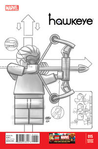 Cover Thumbnail for Hawkeye (Marvel, 2012 series) #15 [Lego Sketch Variant]