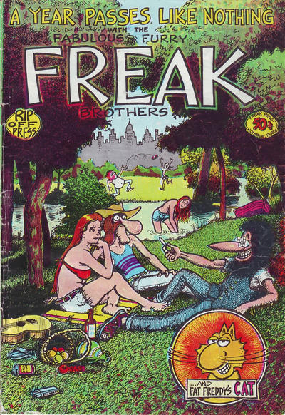Cover for The Fabulous Furry Freak Brothers (Rip Off Press, 1971 series) #3 [1.25 USD 6th print]