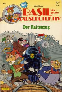 Cover Thumbnail for Basil, der große Mäusedetektiv (Egmont Ehapa, 1987 series) #2 - Der Rattenzug