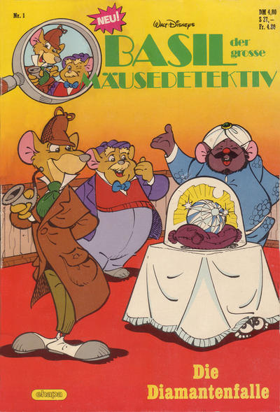 Cover for Basil, der große Mäusedetektiv (Egmont Ehapa, 1987 series) #1 - Die Diamantenfalle