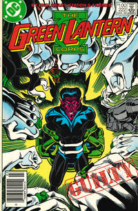 Cover for The Green Lantern Corps (DC, 1986 series) #222 [Direct Edition]