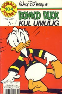 Cover Thumbnail for Donald Pocket (Hjemmet / Egmont, 1968 series) #104 - Donald Duck Kul umulig [Reutsendelse]