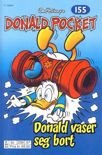 Cover Thumbnail for Donald Pocket (Hjemmet / Egmont, 1968 series) #155 - Donald vaser seg bort [2. utgave bc 239 07]