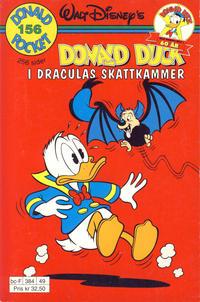 Cover Thumbnail for Donald Pocket (Hjemmet / Egmont, 1968 series) #156 - Donald Duck i Draculas skattkammer [Reutsendelse]