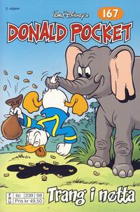Cover Thumbnail for Donald Pocket (Hjemmet / Egmont, 1968 series) #167 - Trang i nøtta [2. utgave bc 239 08]