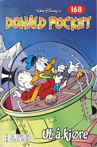 Cover Thumbnail for Donald Pocket (Hjemmet / Egmont, 1968 series) #168 - Ut å kjøre [2. utgave bc 239 08]