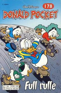 Cover Thumbnail for Donald Pocket (Hjemmet / Egmont, 1968 series) #178 - Full rulle [2. utgave bc 239 09]