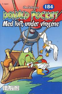 Cover Thumbnail for Donald Pocket (Hjemmet / Egmont, 1968 series) #184 - Med luft under vingene [2. utgave bc 239 10]