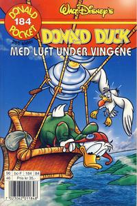 Cover Thumbnail for Donald Pocket (Hjemmet / Egmont, 1968 series) #184 - Donald Duck Med luft under vingene [1. opplag]