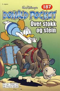 Cover Thumbnail for Donald Pocket (Hjemmet / Egmont, 1968 series) #187 - Over stokk og stein [2. utgave bc 239 10]