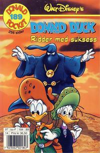 Cover Thumbnail for Donald Pocket (Hjemmet / Egmont, 1968 series) #189 - Donald Duck Ridder med suksess [1. opplag]