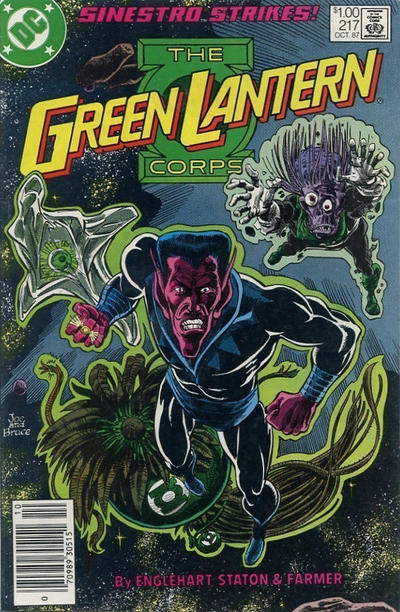 Cover for The Green Lantern Corps (DC, 1986 series) #217 [Newsstand Edition]