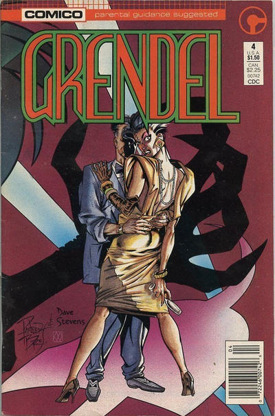 Cover for Grendel (Comico, 1986 series) #4 [Newsstand]