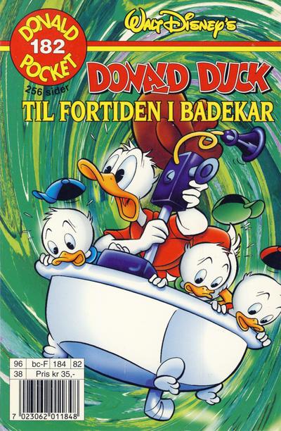 Cover for Donald Pocket (Hjemmet / Egmont, 1968 series) #182 - Donald Duck Til fortiden i badekar [1. opplag]