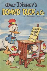 Cover Thumbnail for Donald Duck & Co (Hjemmet / Egmont, 1948 series) #9/1949