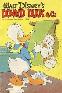 Cover Thumbnail for Donald Duck & Co (Hjemmet / Egmont, 1948 series) #1/1954