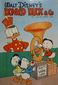 Cover Thumbnail for Donald Duck & Co (Hjemmet / Egmont, 1948 series) #7/1954