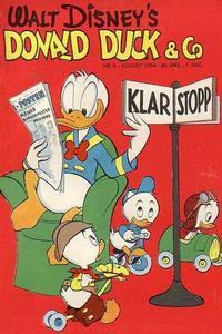 Cover Thumbnail for Donald Duck & Co (Hjemmet / Egmont, 1948 series) #8/1954