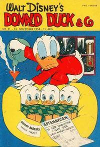 Cover Thumbnail for Donald Duck & Co (Hjemmet / Egmont, 1948 series) #31/1958