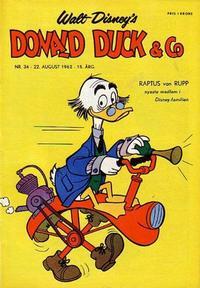 Cover Thumbnail for Donald Duck & Co (Hjemmet / Egmont, 1948 series) #34/1962