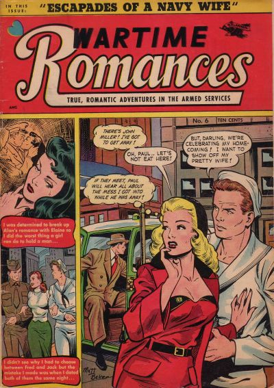 Cover for Wartime Romances (St. John, 1951 series) #6