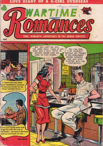 Cover for Wartime Romances (St. John, 1951 series) #7