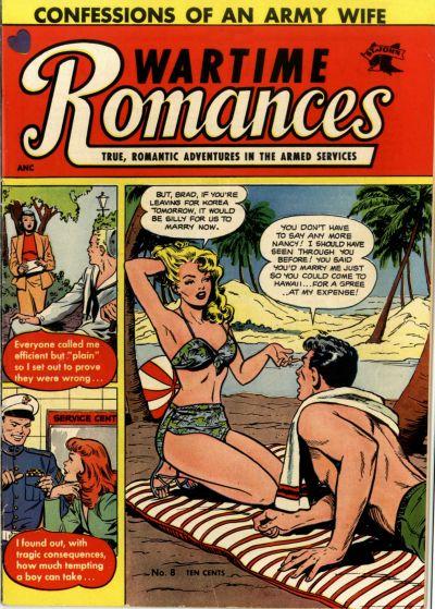 Cover for Wartime Romances (St. John, 1951 series) #8