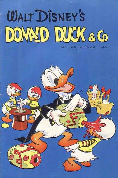 Cover for Donald Duck & Co (Hjemmet / Egmont, 1948 series) #4/1951