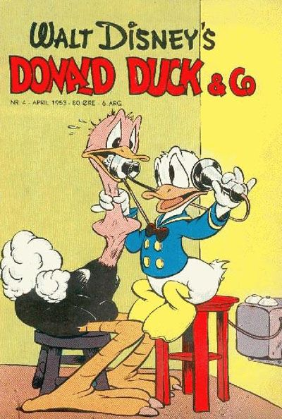 Cover for Donald Duck & Co (Hjemmet / Egmont, 1948 series) #4/1953