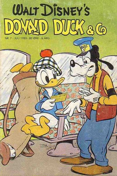 Cover for Donald Duck & Co (Hjemmet / Egmont, 1948 series) #7/1953