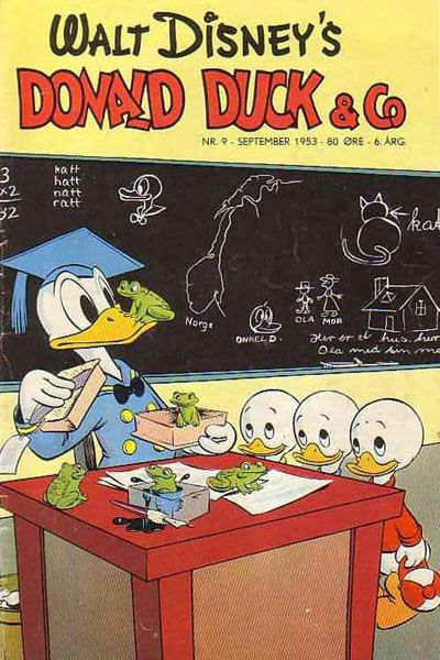Cover for Donald Duck & Co (Hjemmet / Egmont, 1948 series) #9/1953
