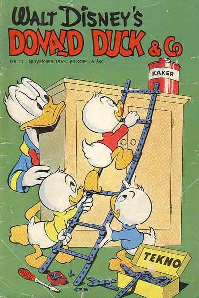 Cover for Donald Duck & Co (Hjemmet / Egmont, 1948 series) #11/1953