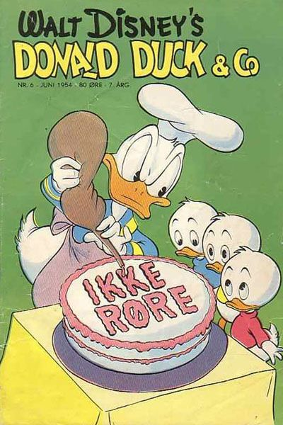 Cover for Donald Duck & Co (Hjemmet / Egmont, 1948 series) #6/1954