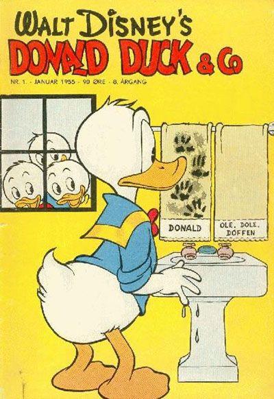 Cover for Donald Duck & Co (Hjemmet / Egmont, 1948 series) #1/1955