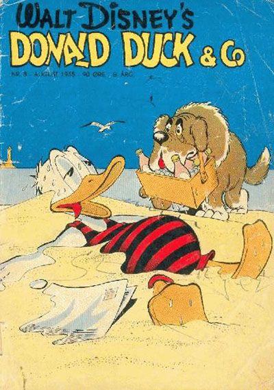 Cover for Donald Duck & Co (Hjemmet / Egmont, 1948 series) #8/1955