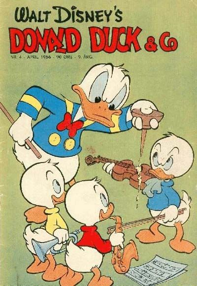 Cover for Donald Duck & Co (Hjemmet / Egmont, 1948 series) #4/1956