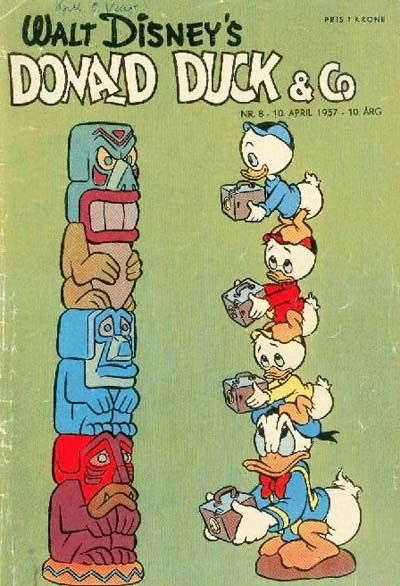 Cover for Donald Duck & Co (Hjemmet / Egmont, 1948 series) #8/1957