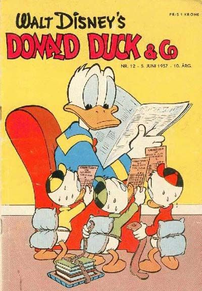 Cover for Donald Duck & Co (Hjemmet / Egmont, 1948 series) #12/1957