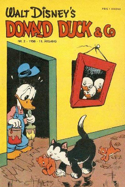 Cover for Donald Duck & Co (Hjemmet / Egmont, 1948 series) #2/1958