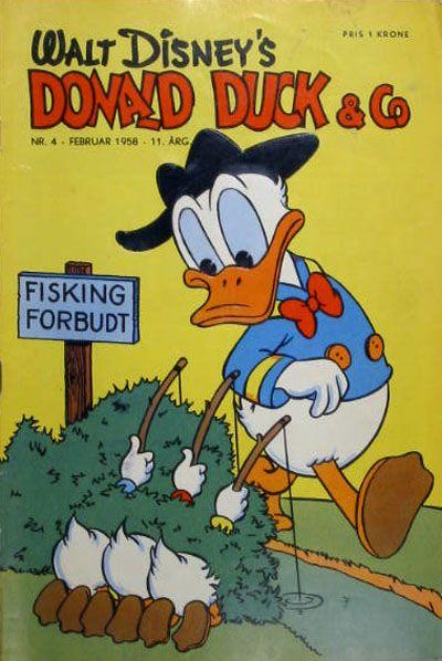 Cover for Donald Duck & Co (Hjemmet / Egmont, 1948 series) #4/1958