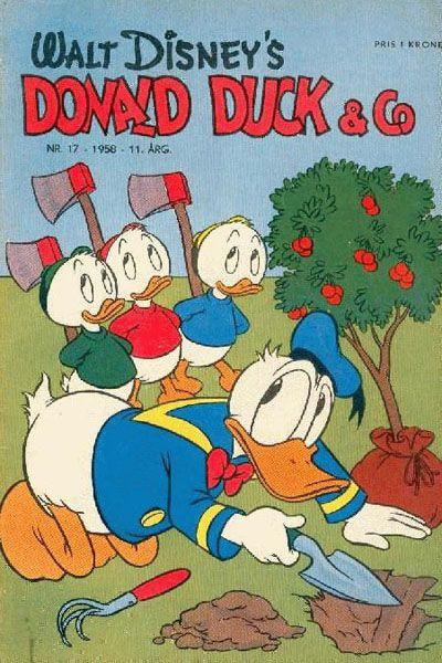 Cover for Donald Duck & Co (Hjemmet / Egmont, 1948 series) #17/1958