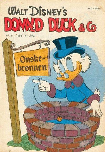 Cover for Donald Duck & Co (Hjemmet / Egmont, 1948 series) #21/1958