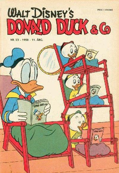 Cover for Donald Duck & Co (Hjemmet / Egmont, 1948 series) #23/1958