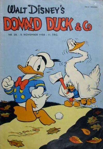 Cover for Donald Duck & Co (Hjemmet / Egmont, 1948 series) #28/1958