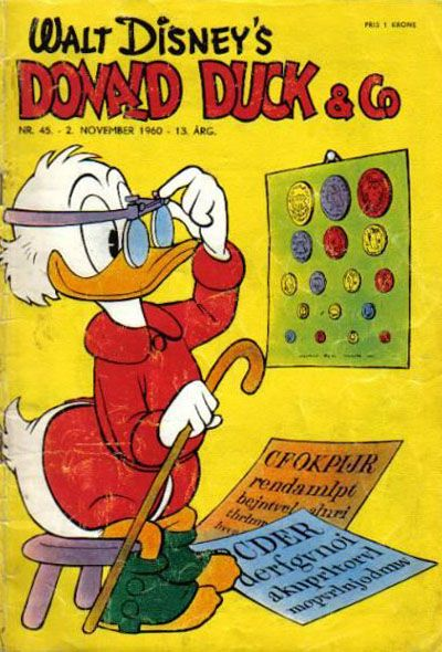 Cover for Donald Duck & Co (Hjemmet / Egmont, 1948 series) #45/1960